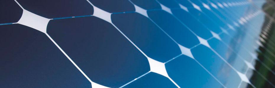 Celdas Solares en panel solar